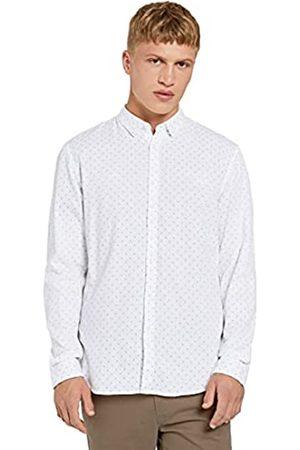 TOM TAILOR Denim Herren Allover Print T-Shirt, 24216-white Stripy Rhombus