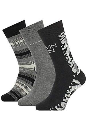 Calvin Klein Socks Mens Colour Blocking Camo Men's Crew (3 Pack) Socks