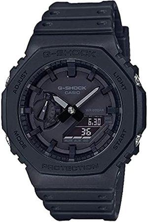 Casio Unisex Analog – Digital Quarz Uhr mit Kautschuk Armband GA-2100-1A1ER