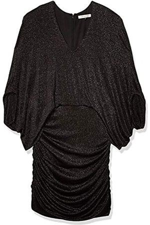 Halston Heritage Damen Metallic Knit Dress Cocktailkleid