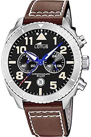 Lotus Herren Analog Quarz Uhr mit Echtes Leder Armband 18705/3