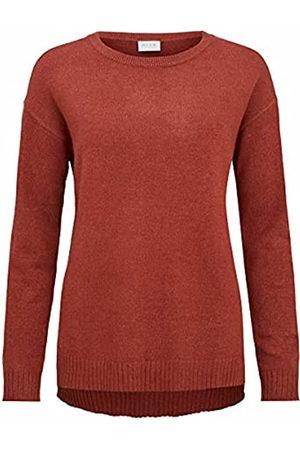 VILA Clothes Damen VIRIL HIGH Low L/S Knit TOP-NOOS Shirt