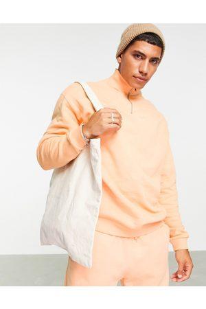ASOS Herren Sweatshirts - – Oversize-Sweatshirt in mit kurzem Reißverschluss, Kombiteil