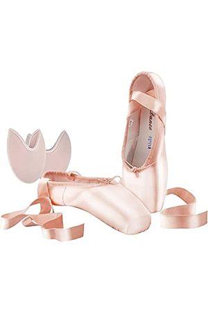 SHOLING Professionelle Damen Spitzenschuhe für Mädchen mit Zehenpolster, Pink (rose)