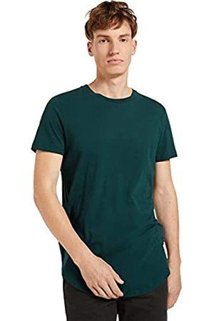 TOM TAILOR Herren Basic T-Shirt, 10834-Deep Green Lake