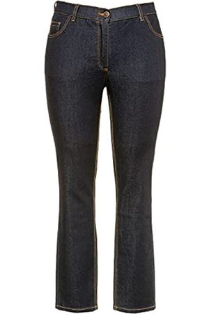 Ulla Popken Damen Sammy, Slim, Komfortbund, 5-Pocket Jeans