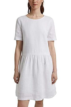 ESPRIT Aus Leinen: Kleid mit Knopf-Details