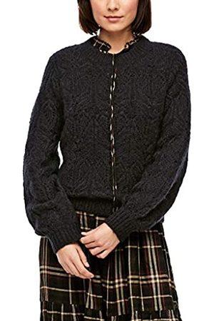 s.Oliver Damen Pullover mit Ajourmuster black 40