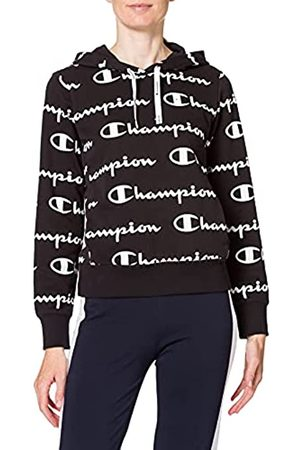 Champion Damen Seasonal Ac Logo Allover Hooded Sweatshirt Kapuzenpulli
