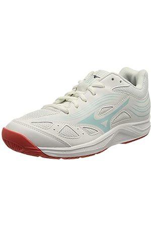Mizuno Damen Cyclone Speed 3 Volleyball-Schuh, Wht/Clearwater/Cayenne