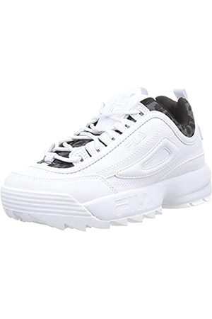 Fila Damen Disruptor A wmn Sneaker, White/Leopard