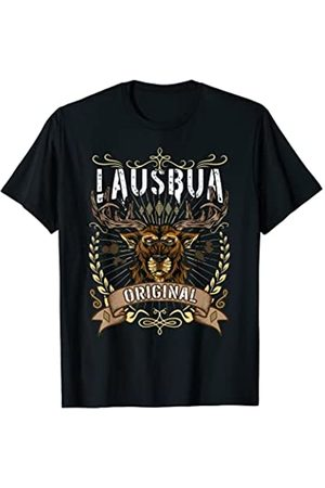 Lausbua Bayern Trachtenshirt Sprüche Herren Leder & Lederimitathosen - Lausbua Lausbub Bayern Tirol Lederhose Oktoberfest Tracht T-Shirt