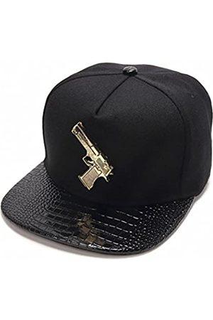 Ralink Baseball Cap Ralink Pistol Verstellbarer Flat Bill Snapback Herren Baseball Hip-Hop Cap Hut für Damen - - Einheitsgröße