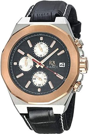 ROBERTO BIANCI WATCHES Fratelli Herren Armbanduhr Edelstahl Quarz Leder Kalbsleder Armband 22 Casual (Modell: RB0134)