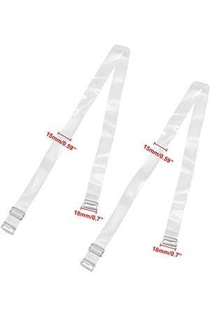 YBCG Damen unsichtbarer transparenter BH Schulterriemen verstellbar für trägerlosen BH - transparent - 10 mm Breite