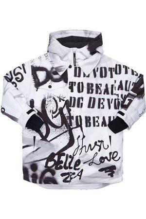 Dolce & Gabbana Gefütterte Skijacke Aus Nylon Mit Kapuze