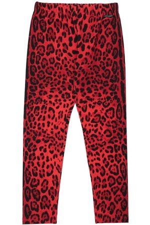 Dolce & Gabbana Mädchen Leggings & Treggings - Leggings Aus Baumwolle Mit Druck