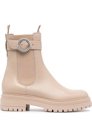 Gianvito Rossi Damen Stiefeletten - Chelsea-Boots mit Gürtel