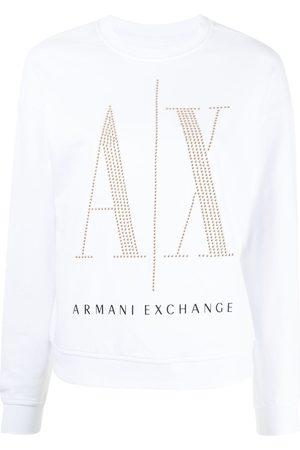 Armani Sweatshirt mit Pailletten-Logo
