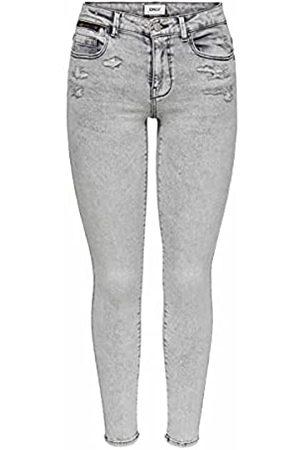 ONLY Damen ONLISA Life REG ANK SK Zip BB PIM Jeans, Black
