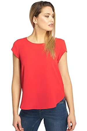 ONLY Damen T-Shirt Onlvic S/S Solid Top Noos Wvn , (High Risk Red)