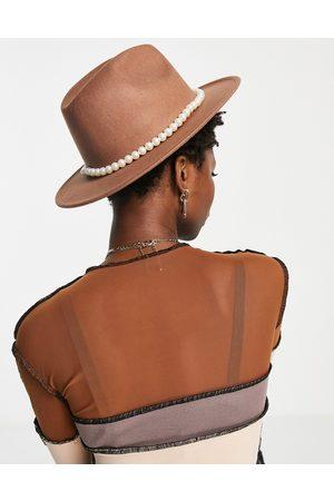 SVNX – Fedora-Hut aus Filz in mit Perlenband