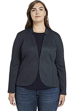 TOM TAILOR Damen Blazer, 24617-grey Houndtooth Check