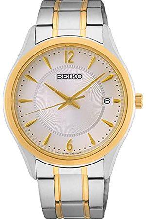 Seiko Herren Analog Quarz Uhr mit Metall Armband SUR468P1