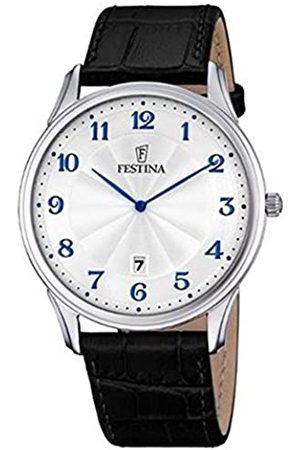Festina Herren Analog Quarz Uhr mit Leder Armband F6851/2