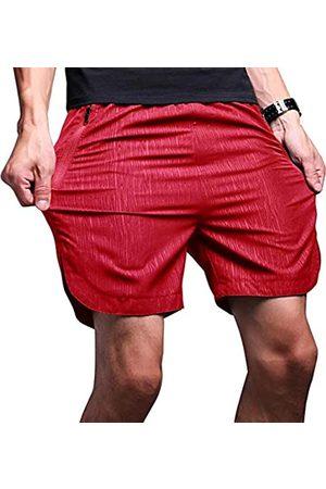 LTIFONE Herren Jogginghosen - Herren-Shorts, schnelltrocknend, Trainingshose, Lauf-Shorts, vertikale Streifen mit Reißverschlusstasche