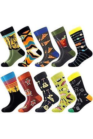 BISOUSOX Herren Socken & Strümpfe - Herrenstrümpfe Lustige Socken Männer Socken mit Mustern Klassische Strümpfe Modische Socken für Männer Geschenk für Eltern Liebhaber Freunde (Einheitsgröße)