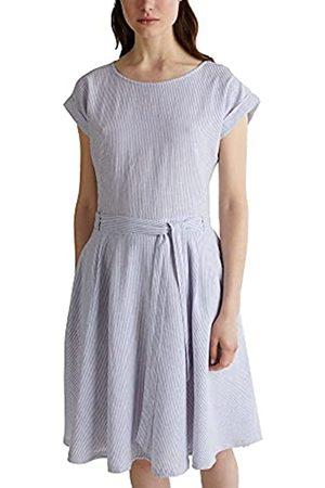ESPRIT Aus Leinen-Mix: Kleid mit Streifen