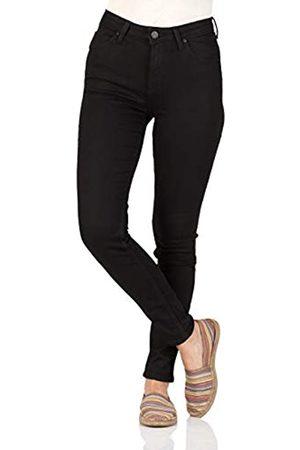 Lee Damen Jeans Scarlett High - Skinny Fit - - Black Rinse, Größe:W 29 L 31