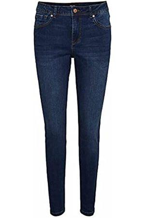 VERO MODA Damen Skinny - Female Skinny Fit Jeans VMTANYA Normal Waist XS34Dark Blue Denim