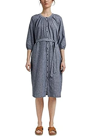 Esprit Aus Leinenmix: Blusenkleid mit Gürtel
