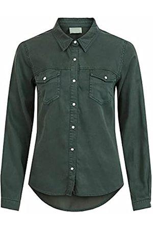 Vila Clothes Damen VIBISTA Denim Shirt/SU-NOOS Hemd
