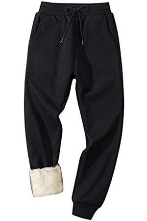 Gihuo Herren Winter Fleece Pants Sherpa Gefüttert Sweatpants Active Running Jogger Pants - - Groß