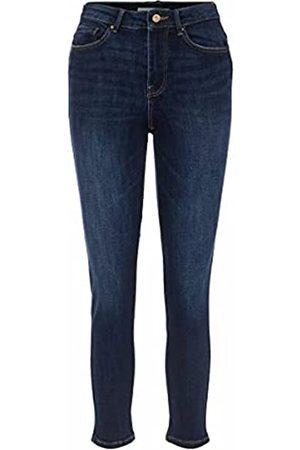 Pieces Female Slim Fit Jeans Mid Waist SDark Blue Denim