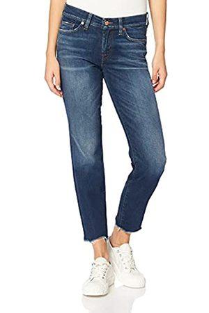 7 for all Mankind Damen MID Rise Roxanne Crop Slim Jeans
