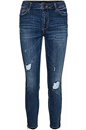 VERO MODA Female Skinny Fit Jeans VMTILDE Normal Waist XL32Medium Blue Denim