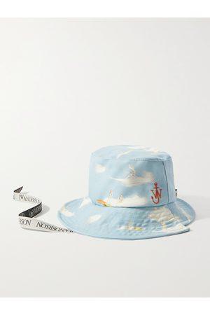 J.W.Anderson Herren Hüte - Asymmetric Logo-Embroidered Printed Cotton-Canvas Bucket Hat