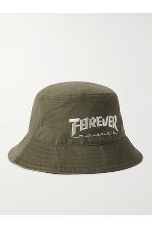 KAPITAL Herren Hüte - Embroidered Cotton-Twill Bucket Hat