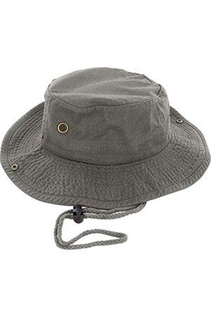 DealStock Boonie Fischerhut für Herren, 100 % Baumwolle, Safari