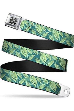 Buckle Sicherheitsgurt – Palmen schwingend hellbraun/blaugrün – 2,5 cm breit – 50,8-91