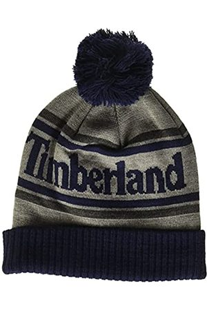 Timberland Herren Logo Cuffed Beanie with Pom Hut für kaltes Wetter
