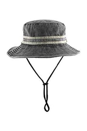 ZLYC Herren Fischerhüte Für Einstellbar Draussen Retro Militärischen Hut Stil Design Fischerhut Modisch Sonnenhut (Grau2)