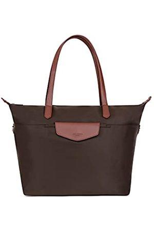 Hexagona Damen Umhängetaschen - Damen Handtasche A4 große Tasche aus Canvas und Leder – Tasche Pop Weekend Arbeit wasserdicht und widerstandsfähig, L : 46 x h : 28,5 x P : 14 cm