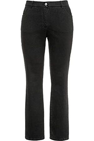 Ulla Popken Damen Mandy, 5-Pocket, Komfortbund, gerades Bein Jeans