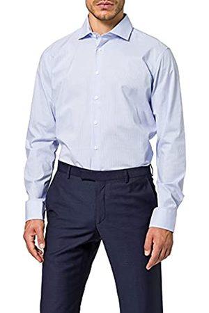Seidensticker Herren Business Hemd – Kariertes, elegantes Hemd mit Kent-Kragen und hohem Tragekomfort – Passform X-Slim Fit – Langarm – 100% Baumwolle, (Dunkelbla