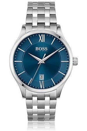 HUGO BOSS Herren Uhren - Blue-dial watch with five-link bracelet